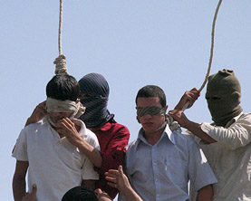 Gay Teens hanged in Iran 2005