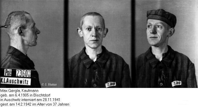 Pink Triangle Prisoner from Auschwitz Concentration Camp: Max Gergla