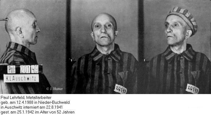 Pink Triangle Prisoner from Auschwitz Concentration Camp: Paul Lehrfeld
