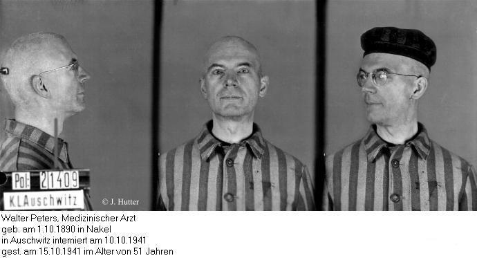 Pink Triangle Prisoner from Auschwitz Concentration Camp: Walter Peters