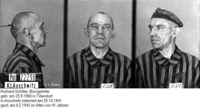 Pink Triangle Prisoner from Auschwitz Concentration Camp: Richard Schiller
